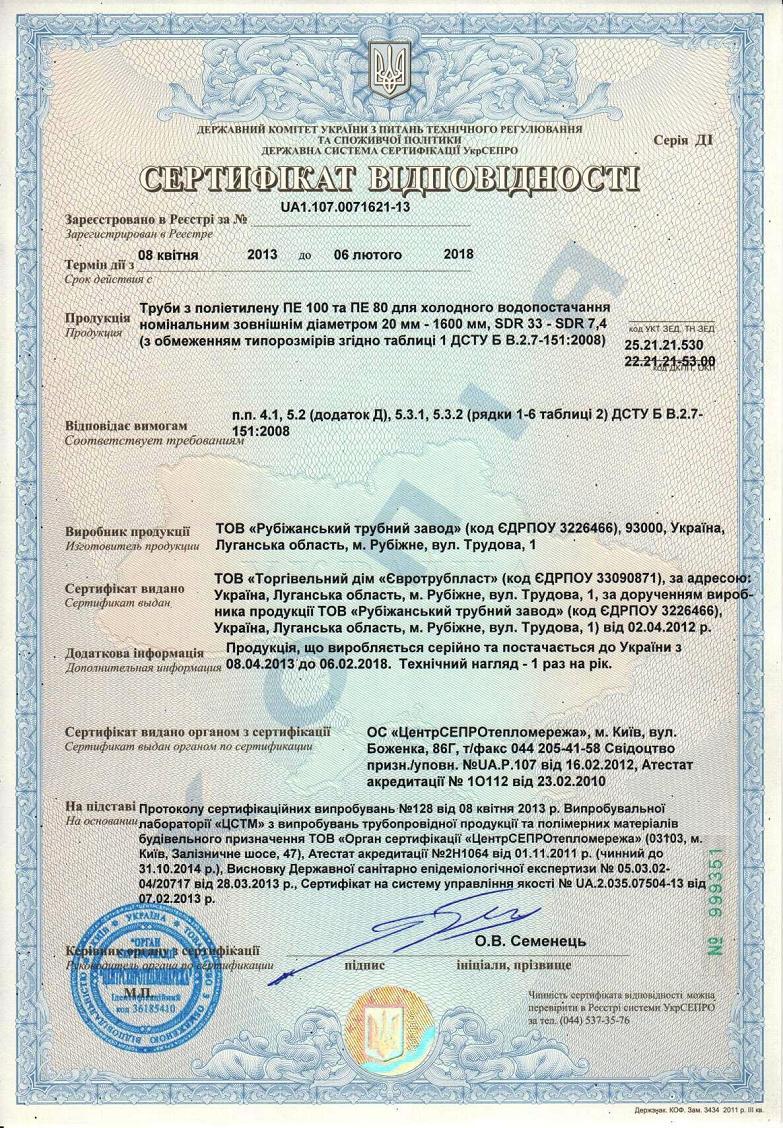 Сертификация в строительстве украина сертификация средств связи ссср